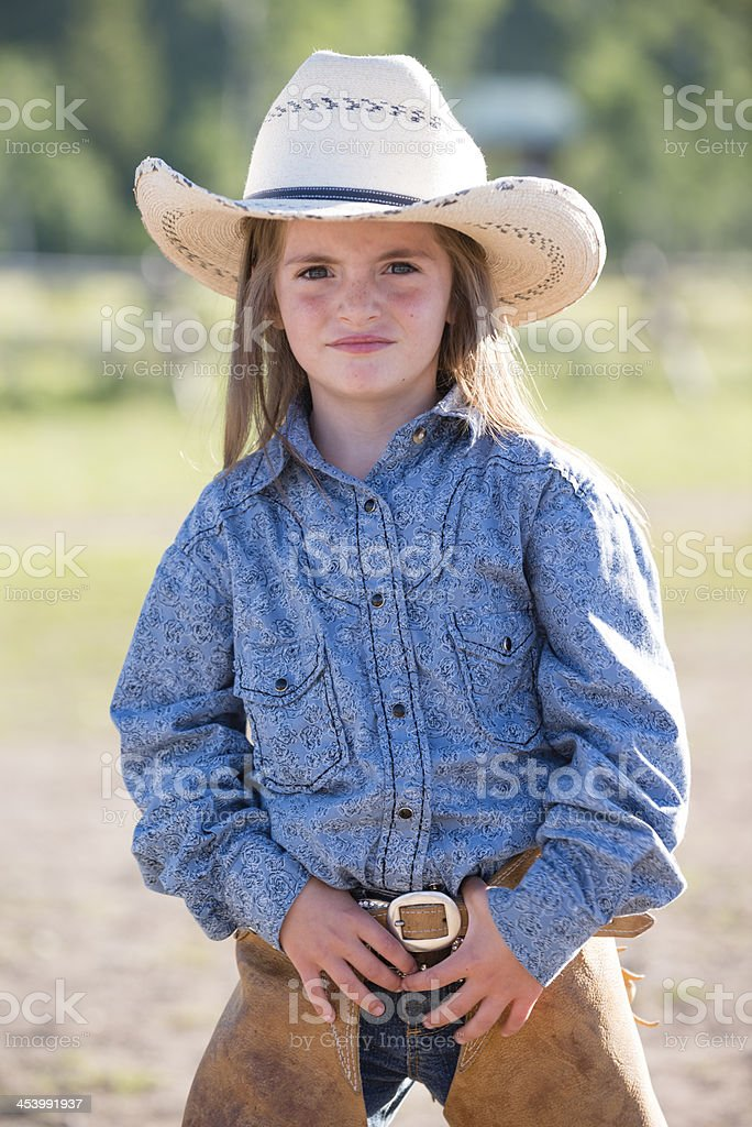Young Cowgirl royalty-free stock photo