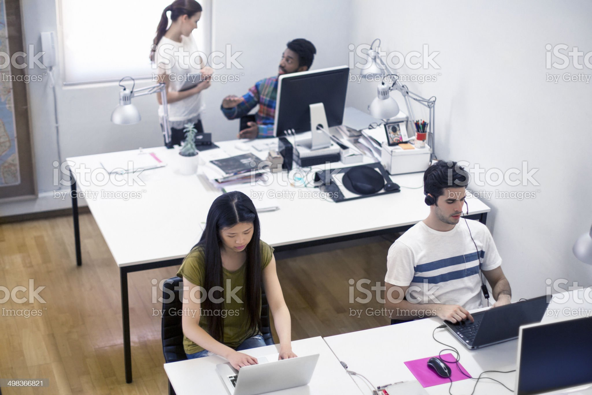 Young creative office royalty-free stock photo