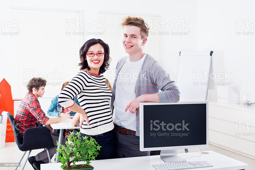 Young Creative showing their work royalty-free stock photo