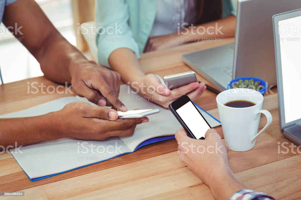 Young creative team working together stock photo