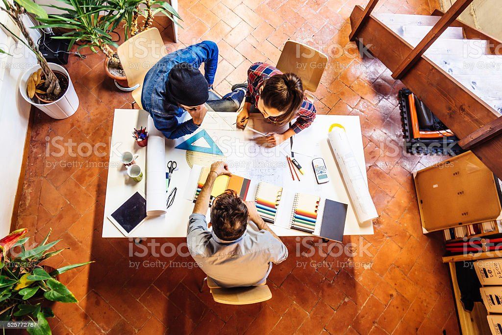 Young Creatives Team Working Together stock photo