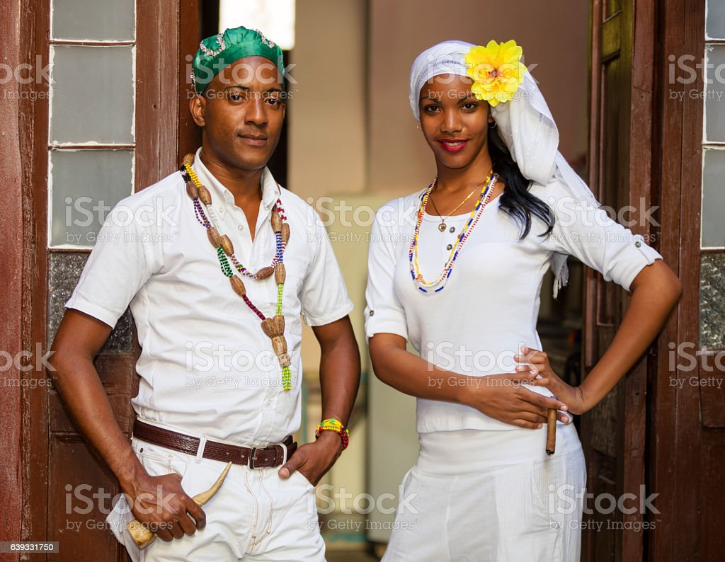 Young Cuban Couple, Havana, Cuba stock photo