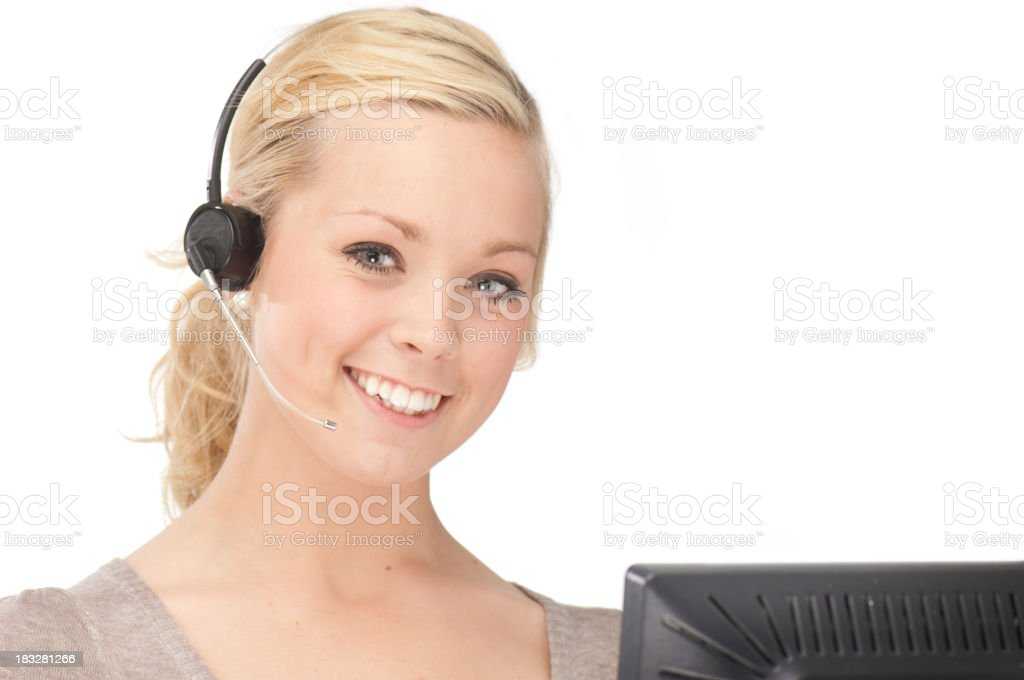 Young Customer Service Representative royalty-free stock photo