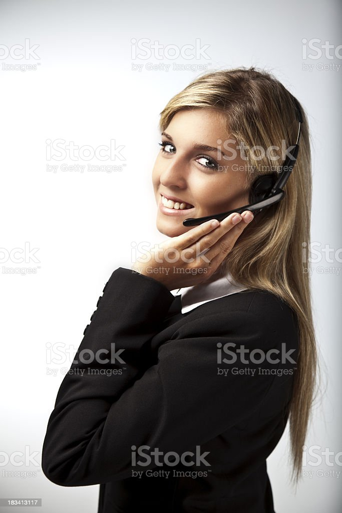Young customer service woman royalty-free stock photo