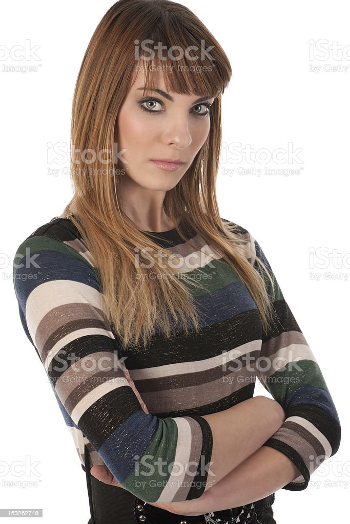 Young cute business woman stock photo