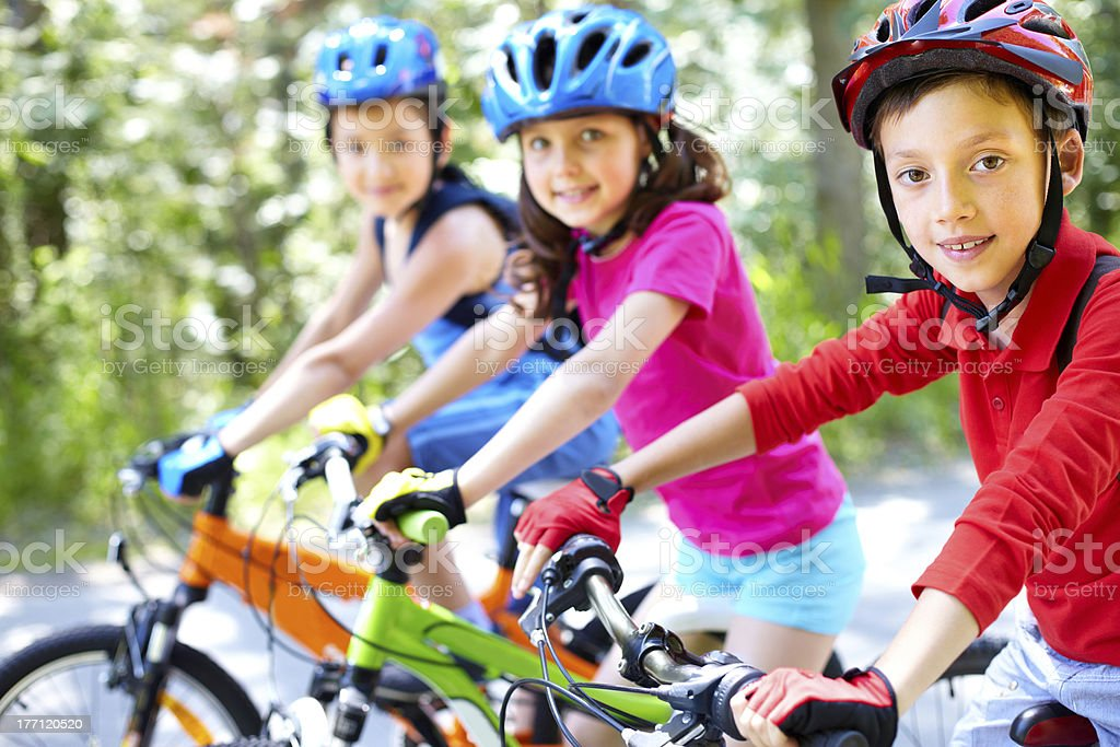 Young cyclist stock photo