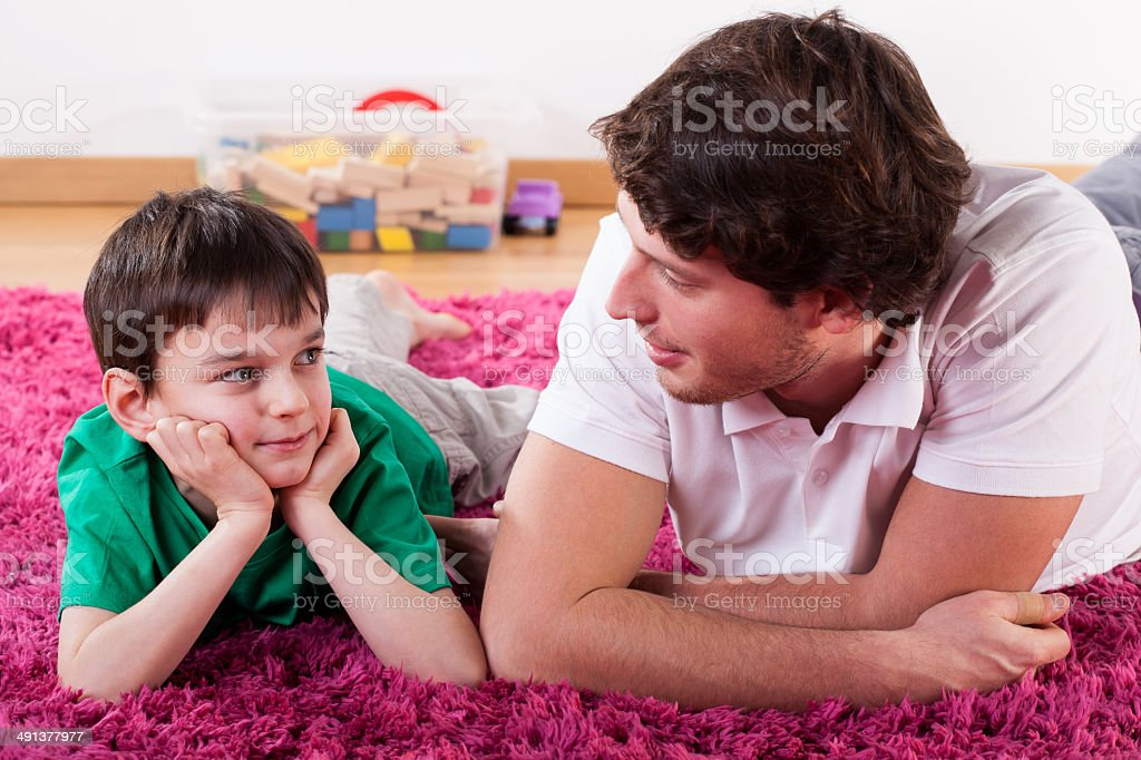 Young dad and son royalty-free stock photo