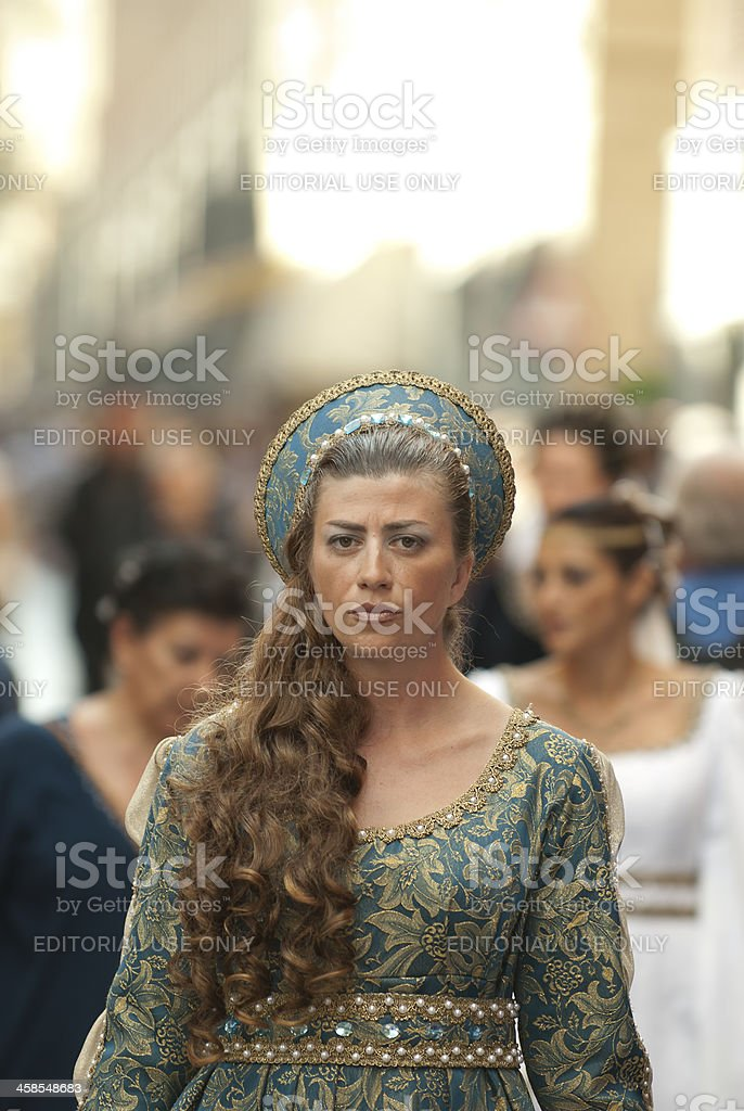 Young damadel Middle Ages stock photo