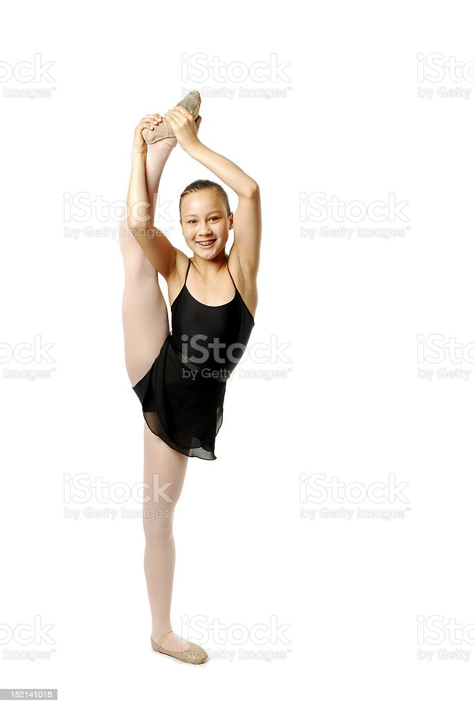 Young Dancer Stretching royalty-free stock photo