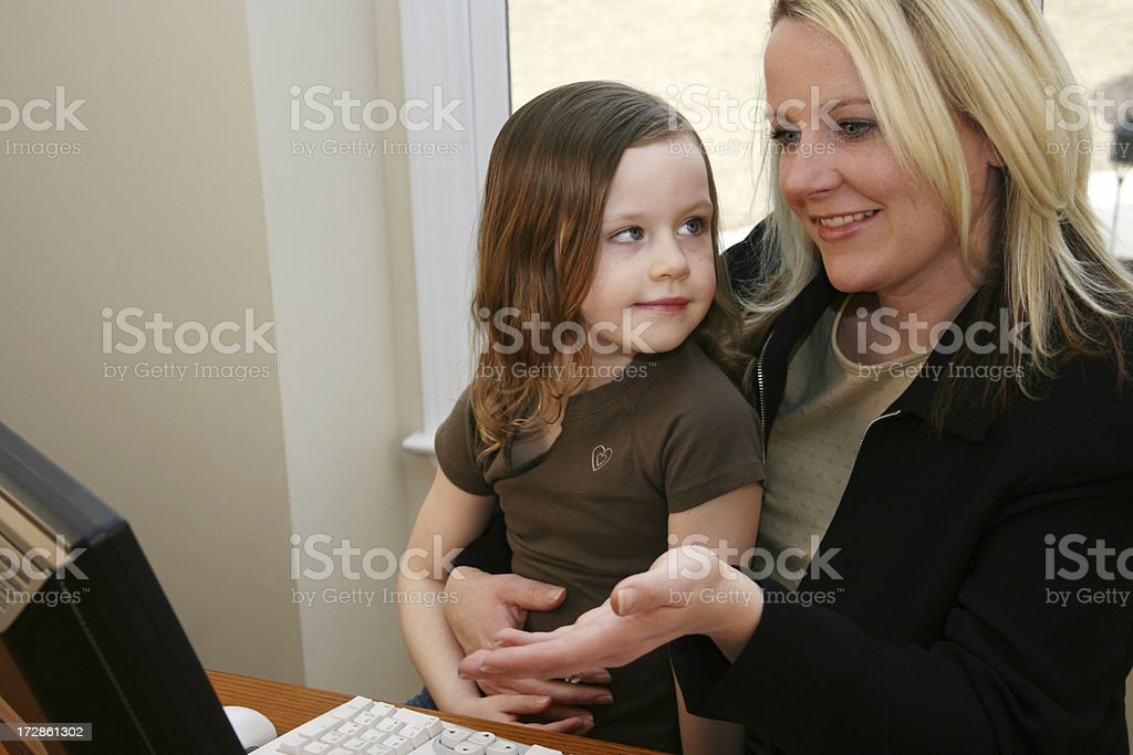 Young Daughter With Her Mother royalty-free stock photo