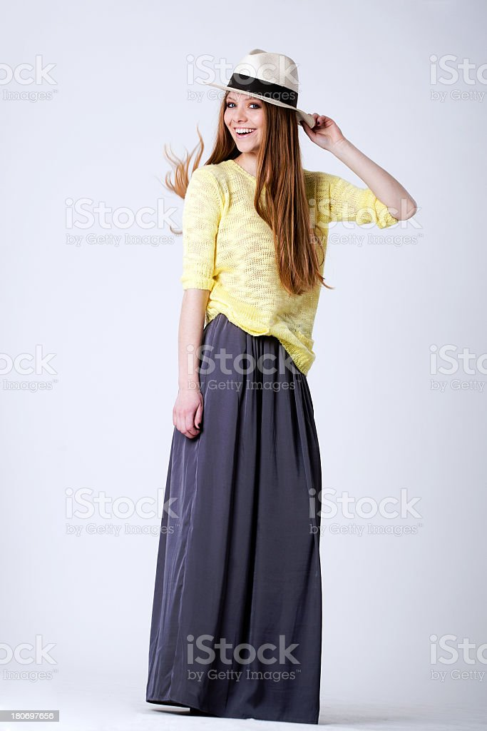 Young delicate girl posing royalty-free stock photo