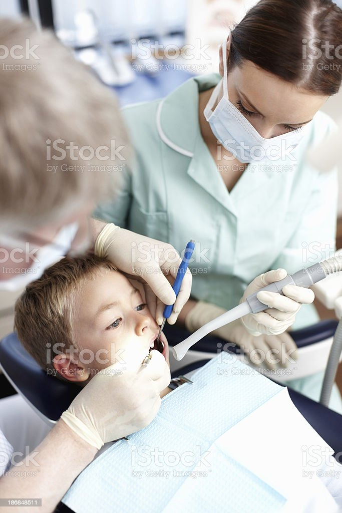 Young dental patient royalty-free stock photo