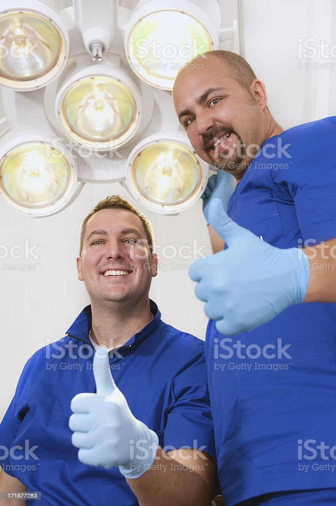 Young dentists stock photo