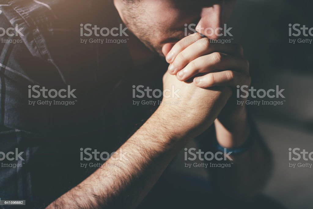 Young depressed adolescent stock photo