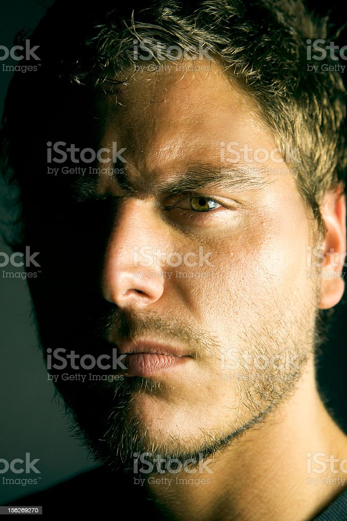 Young Depressed Man royalty-free stock photo
