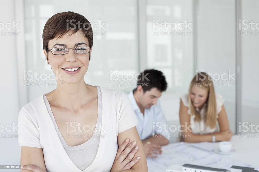 Young designer in her office royalty-free stock photo