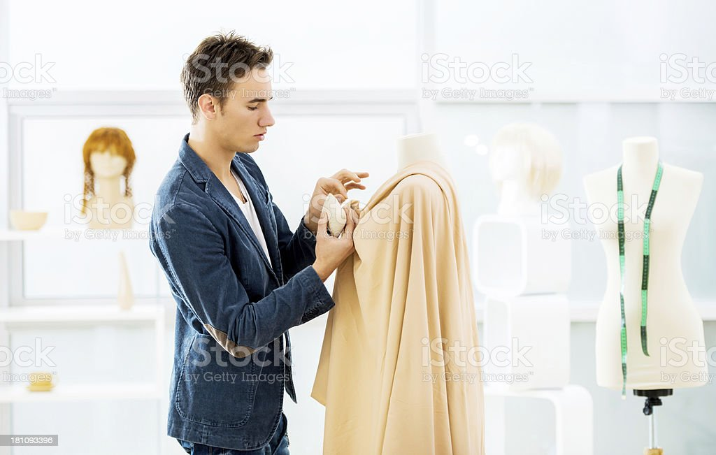 Young designer working at the design studio. royalty-free stock photo