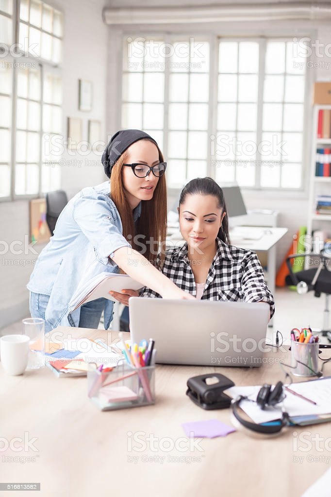 Young designers working together stock photo