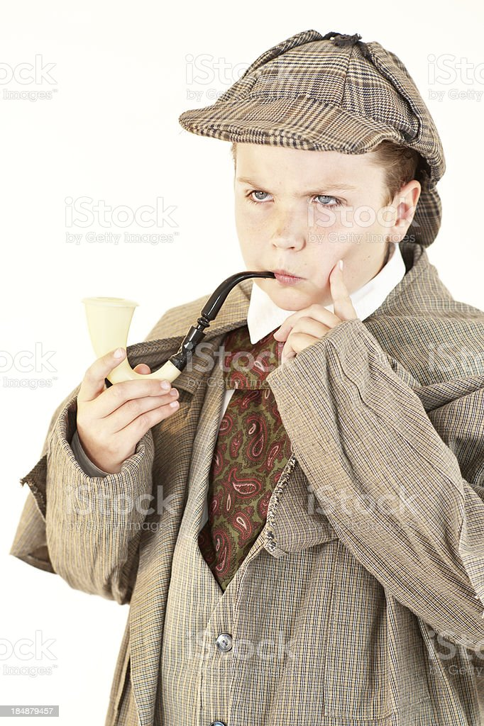 Young Detective Actor stock photo