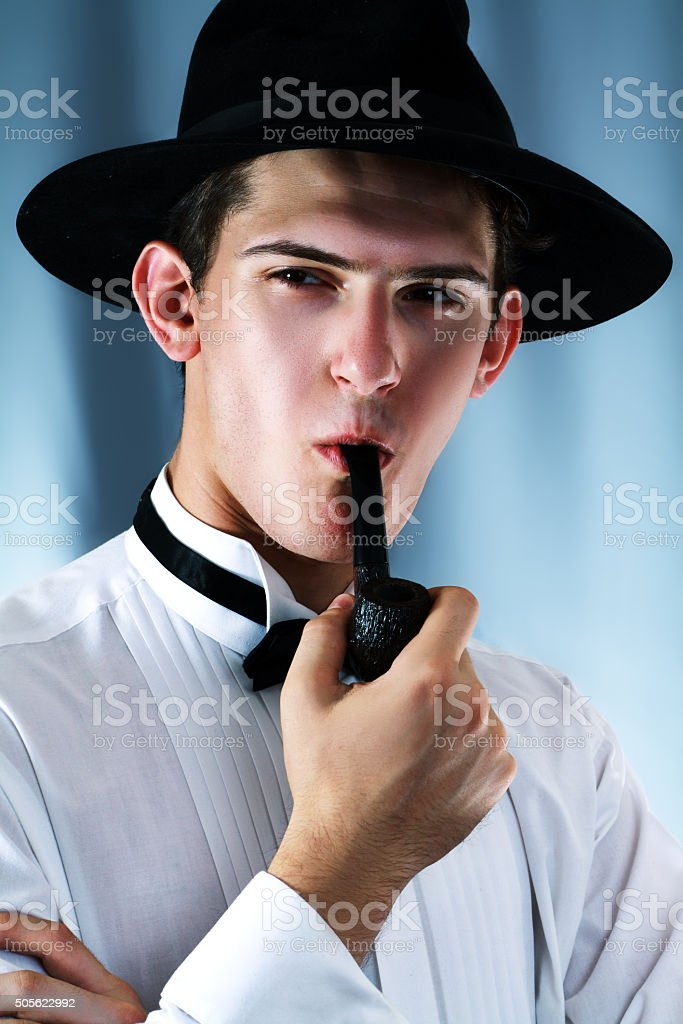 Young detective stock photo