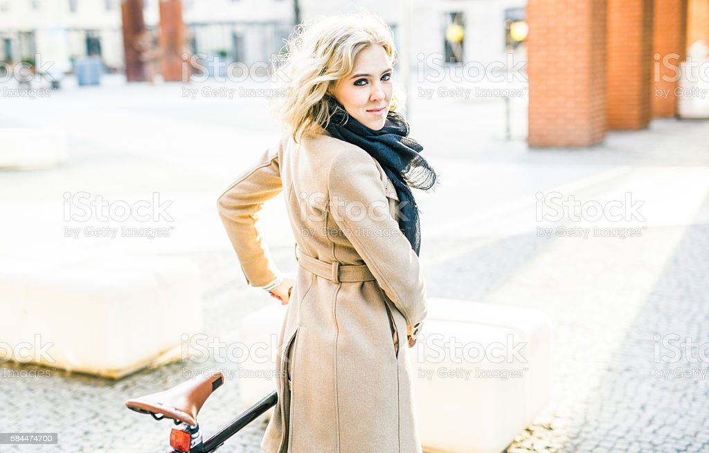 Young Determined Woman Getting Around The City stock photo