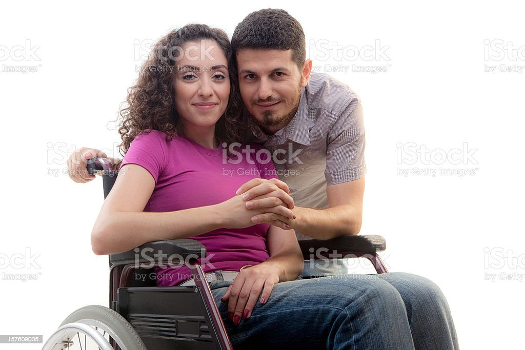 Young disabled woman royalty-free stock photo