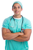 Young doctor occupation job isolated