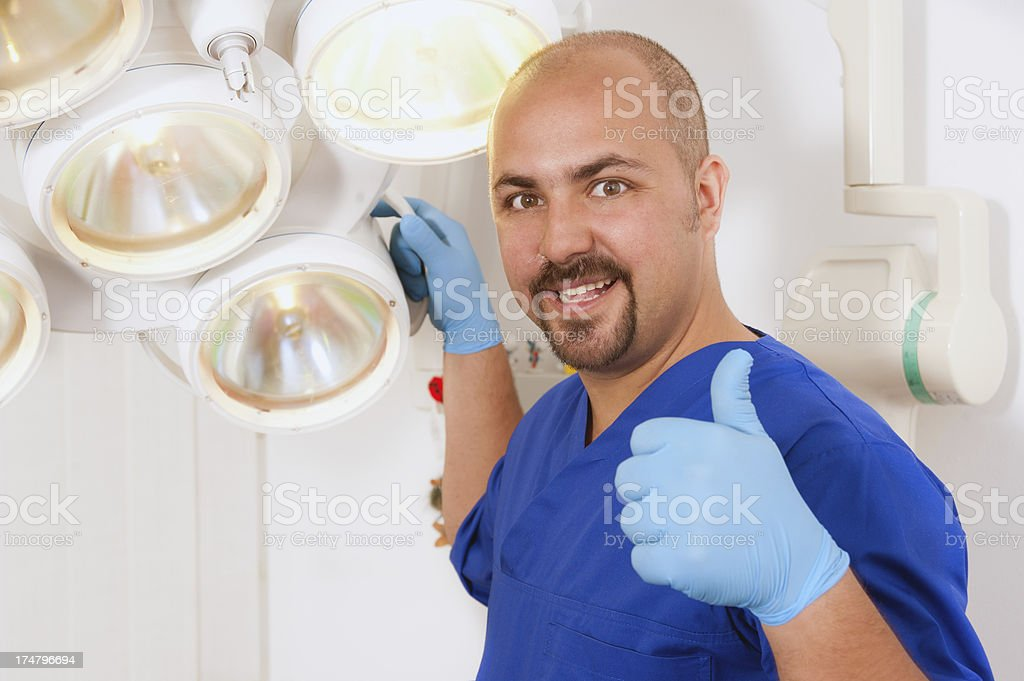 Young doctor of dentistry stock photo