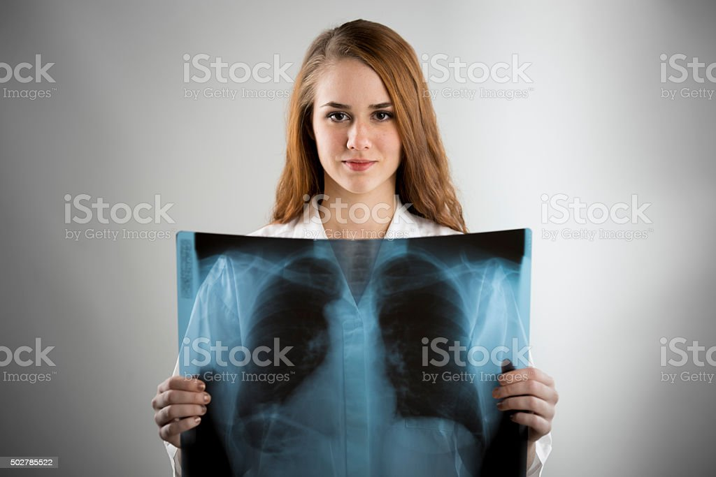 Young doctor portrait stock photo