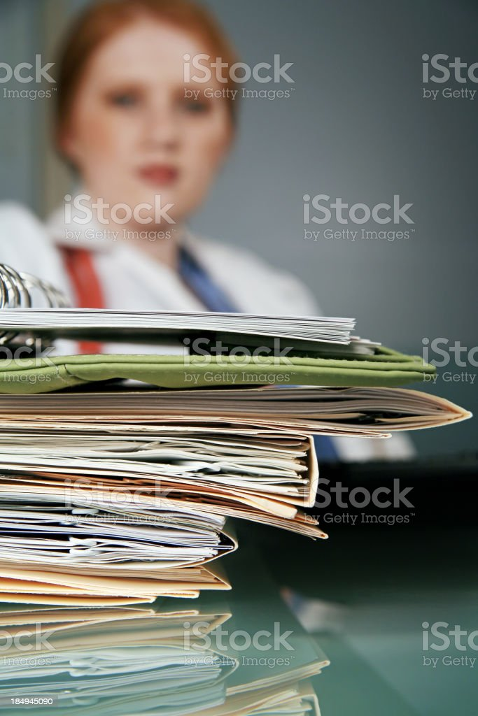Young Doctor with Files royalty-free stock photo
