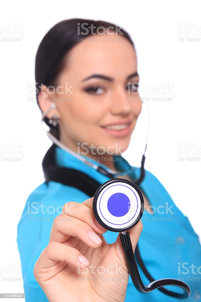Young doctor woman standing royalty-free stock photo