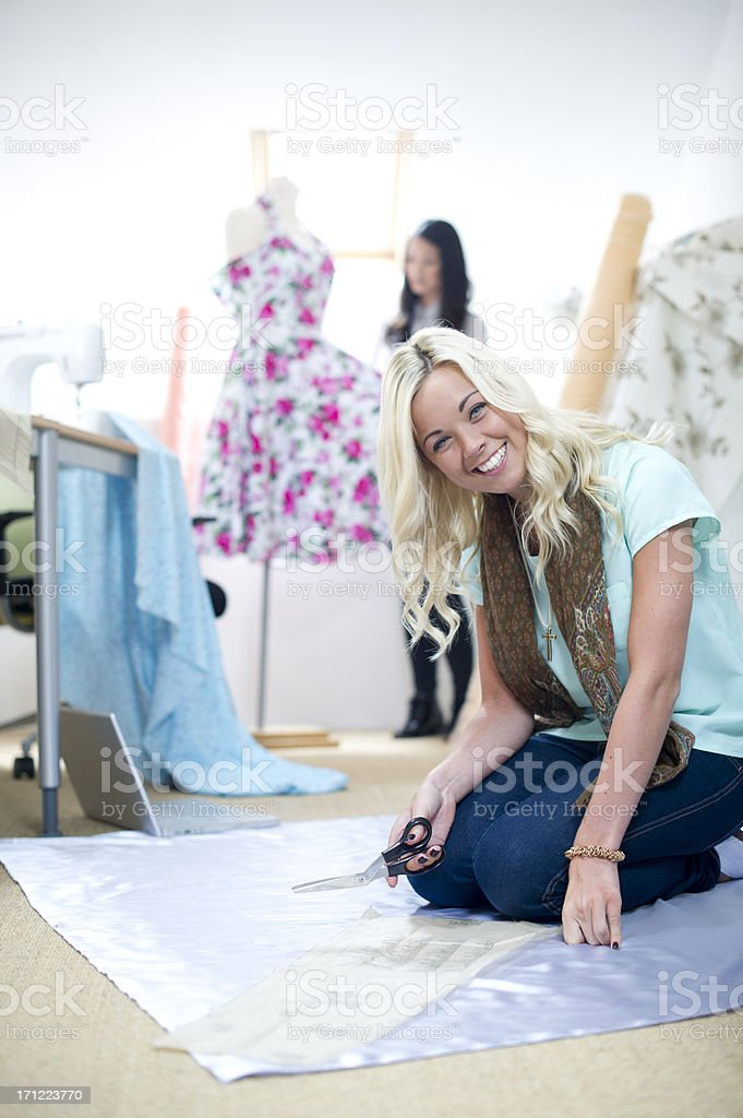 young dressmakers royalty-free stock photo