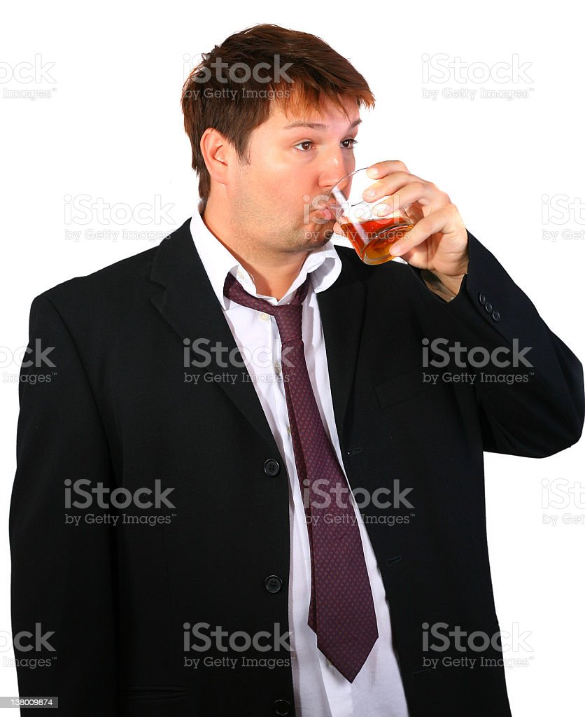 Young drinker royalty-free stock photo