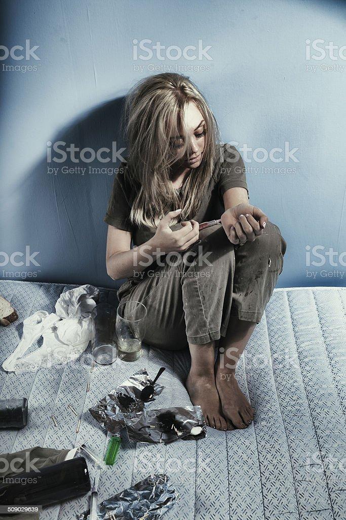 Young Drug Addict stock photo