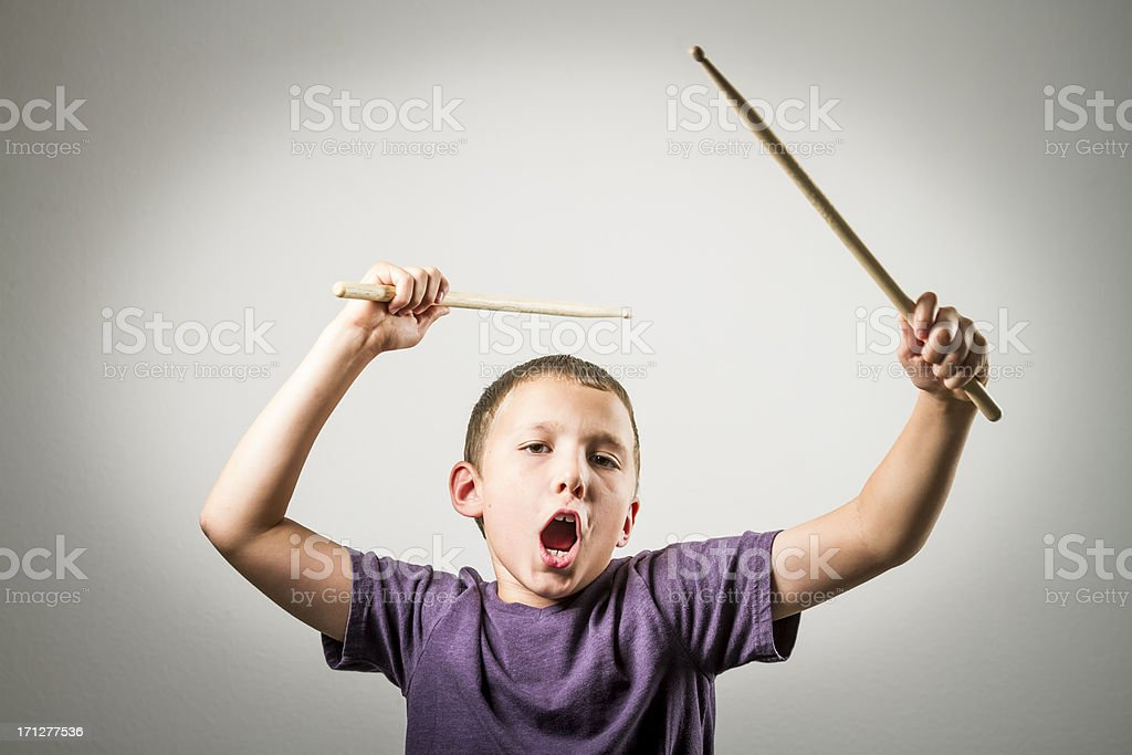 Young Drummer Series royalty-free stock photo