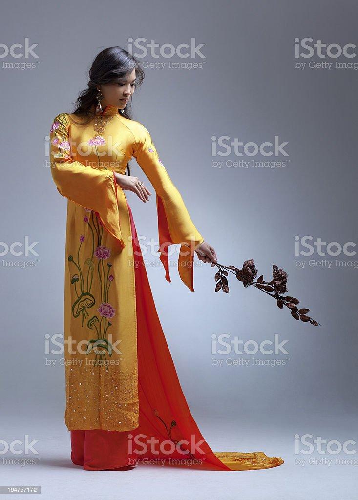 Young elegant asian woman royalty-free stock photo