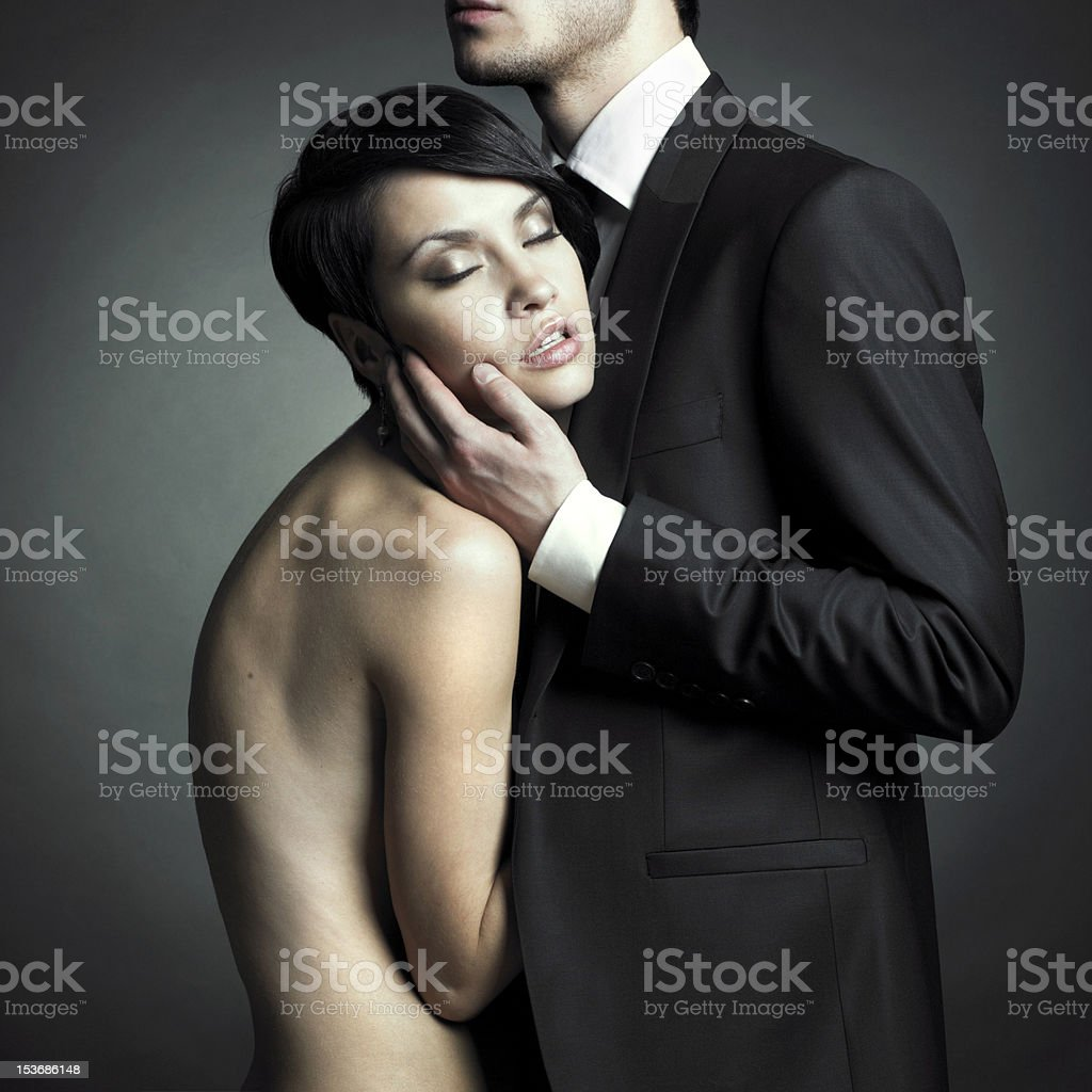Young elegant couple royalty-free stock photo