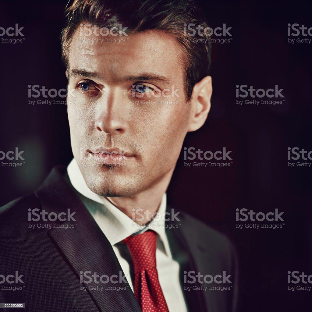 young elegant man stock photo