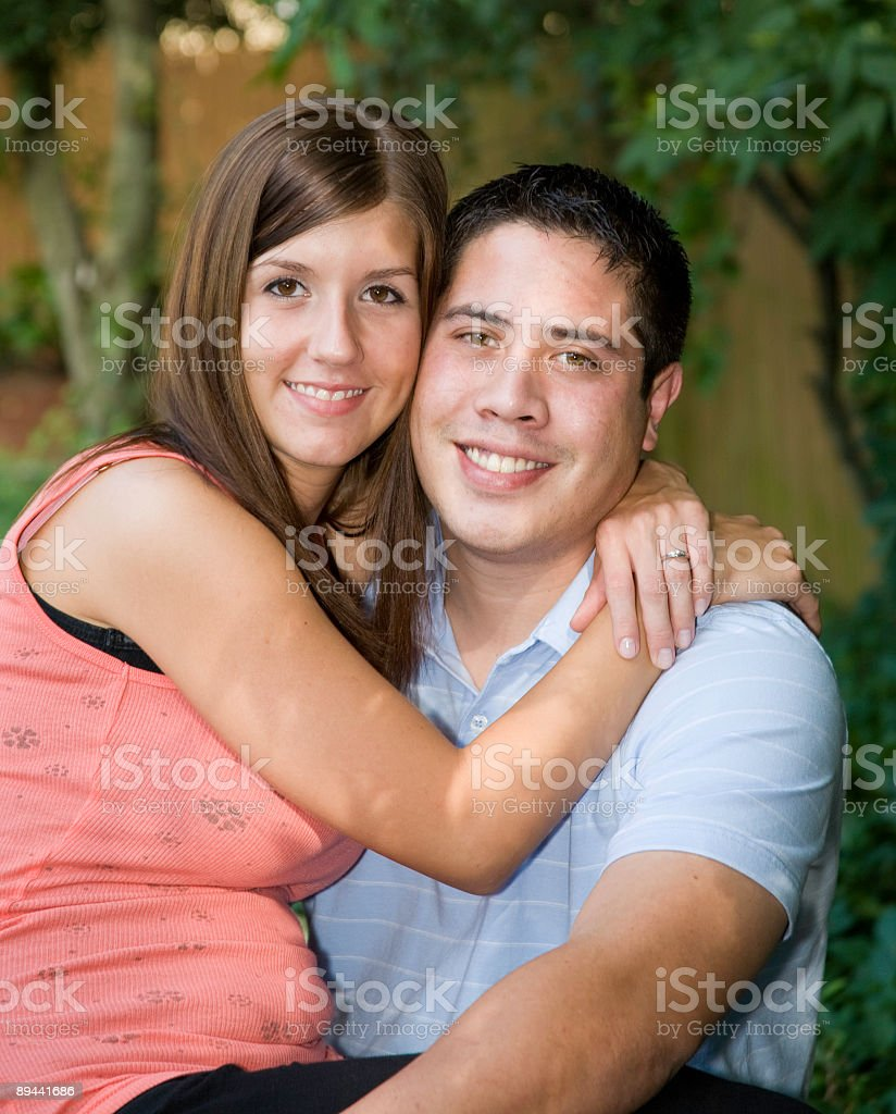 young engagment couple royalty-free stock photo