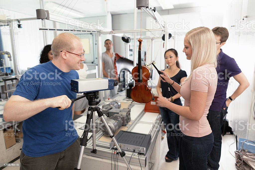 young engineering scientists stock photo