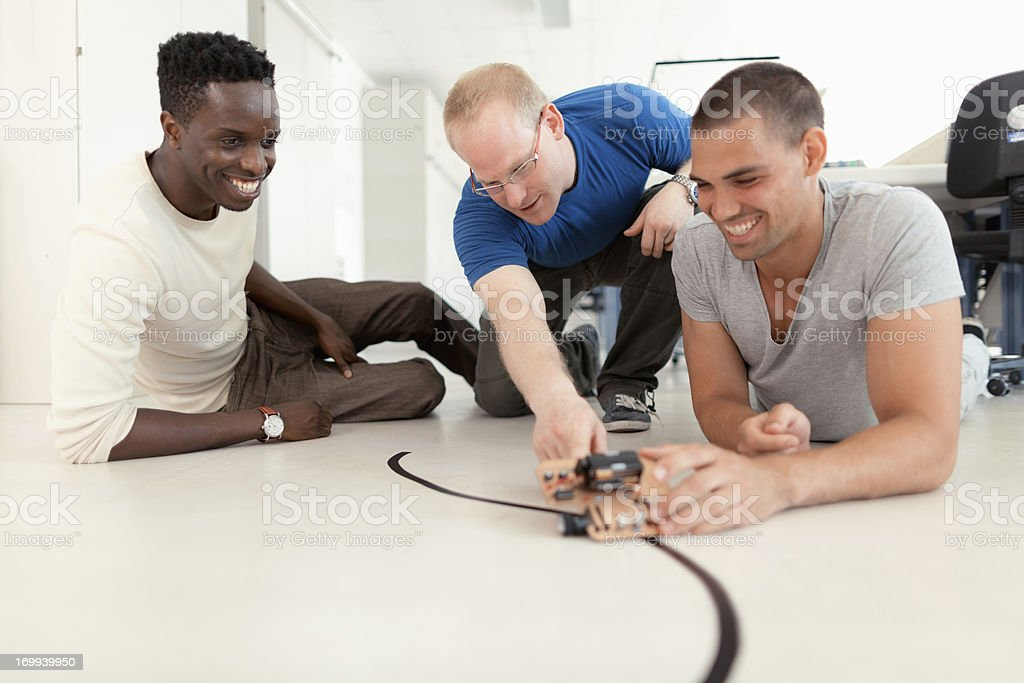 young engineers at work stock photo
