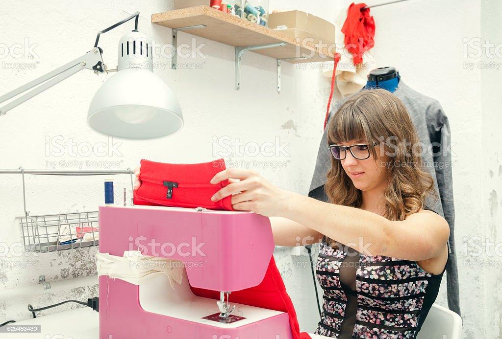 Young entrepreneur fashion design stock photo
