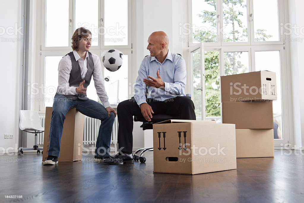 Young Entrepreneurs in a New Office royalty-free stock photo