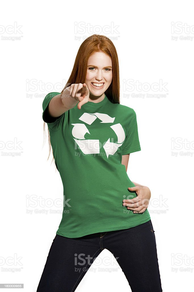 Young environmentally friendly girl royalty-free stock photo