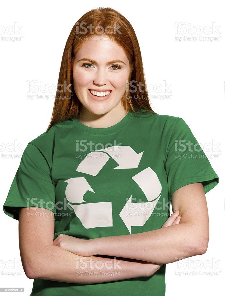 Young environmentally friendly girl royalty-free stock photo