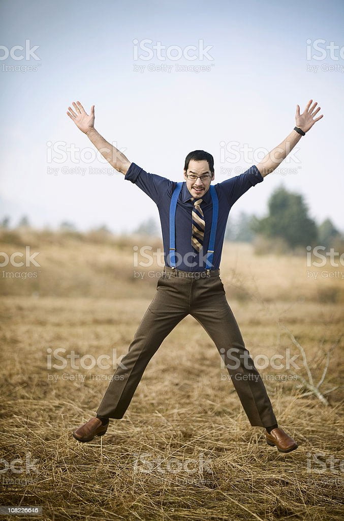 Young Ethnic Business Man Taking An Exercise Break stock photo