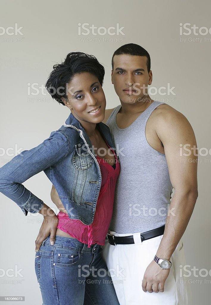 Young ethnic couple royalty-free stock photo