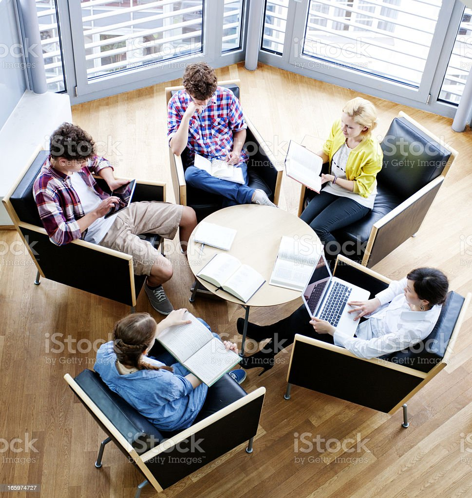 Young European study group royalty-free stock photo