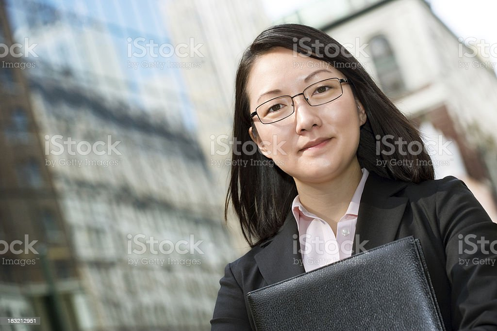 Young executive businesswoman royalty-free stock photo