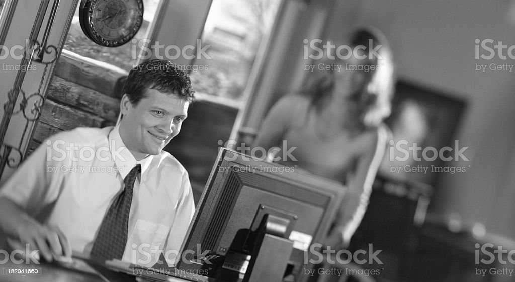 Young Executive  working royalty-free stock photo